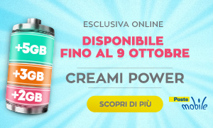 Scopri Creami Power di PosteMobile