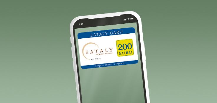 Con il Libretto Smart puoi vincere una carta regalo Eataly da 200 euro